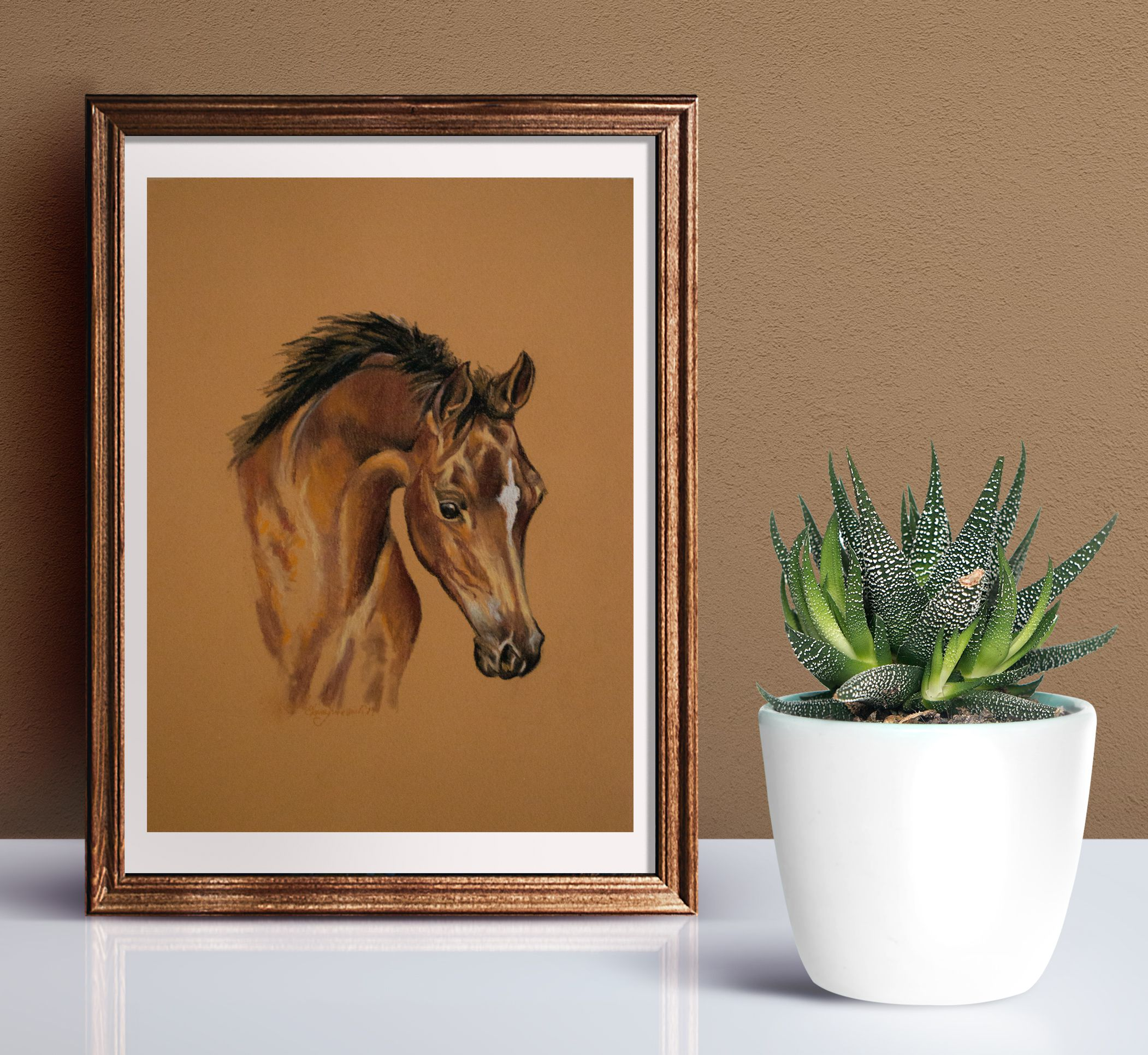 foal pasteldrawing babyhorse horselovergift horselover drawing