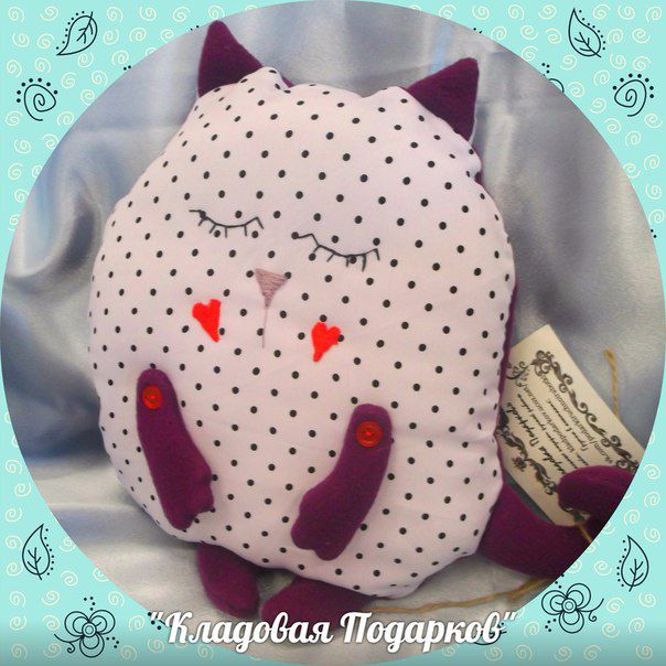 fleece gift pillow cat