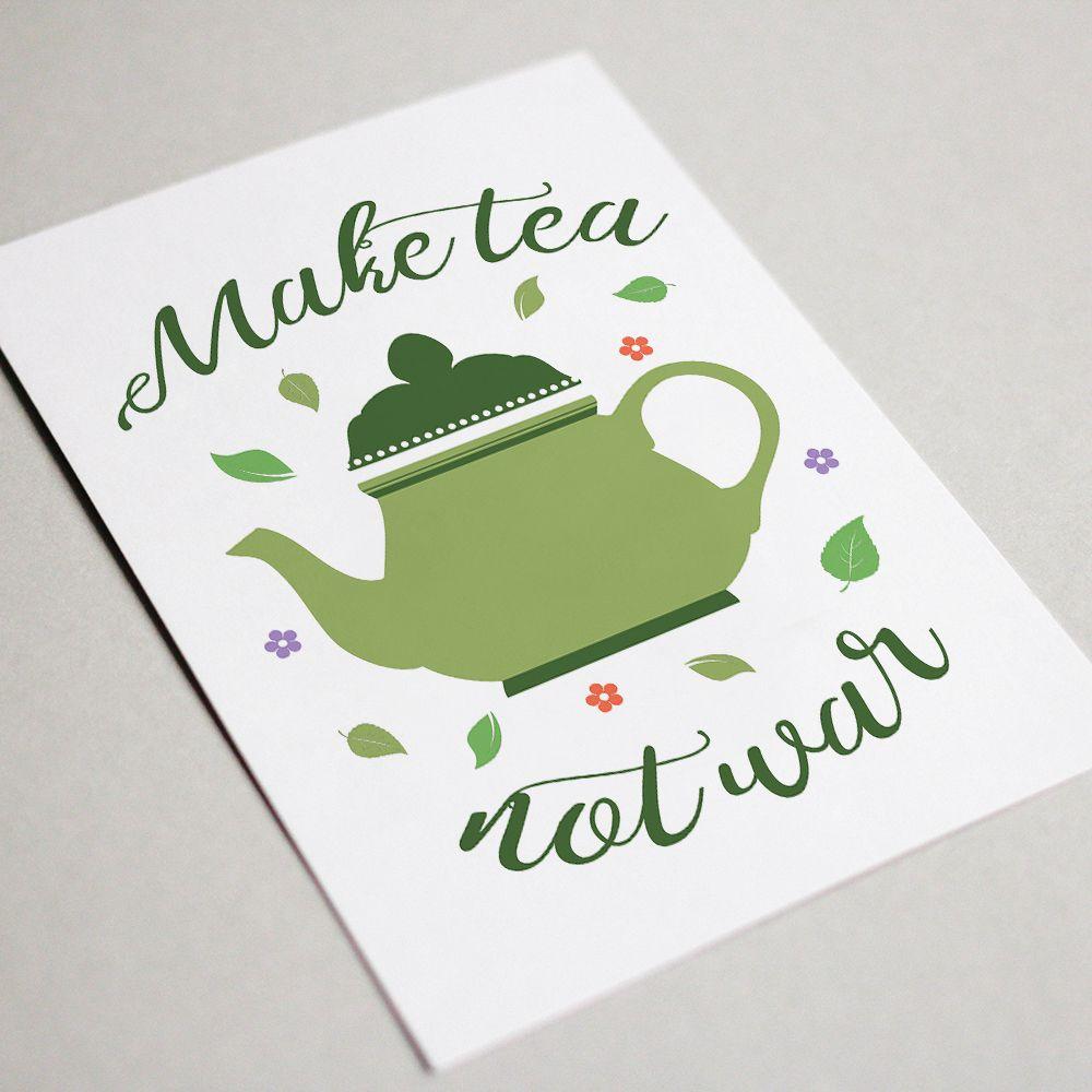 time poster kitchen decor teapot printable wall tea print prints party art