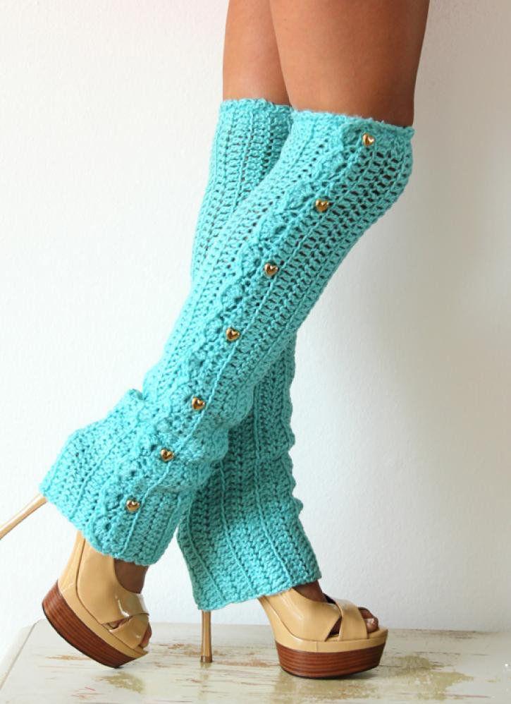 textile leg warmers crochet goods
