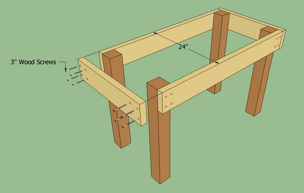 workbench frame strong wood make