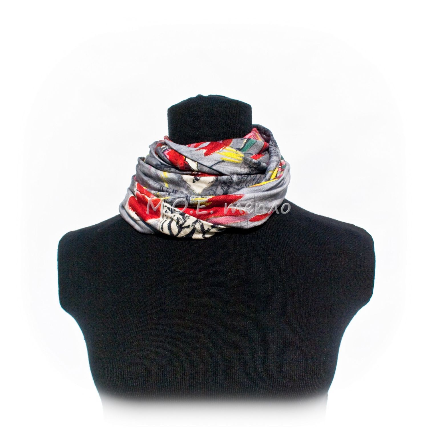 accessories clothes grey scarf neckwarmer red