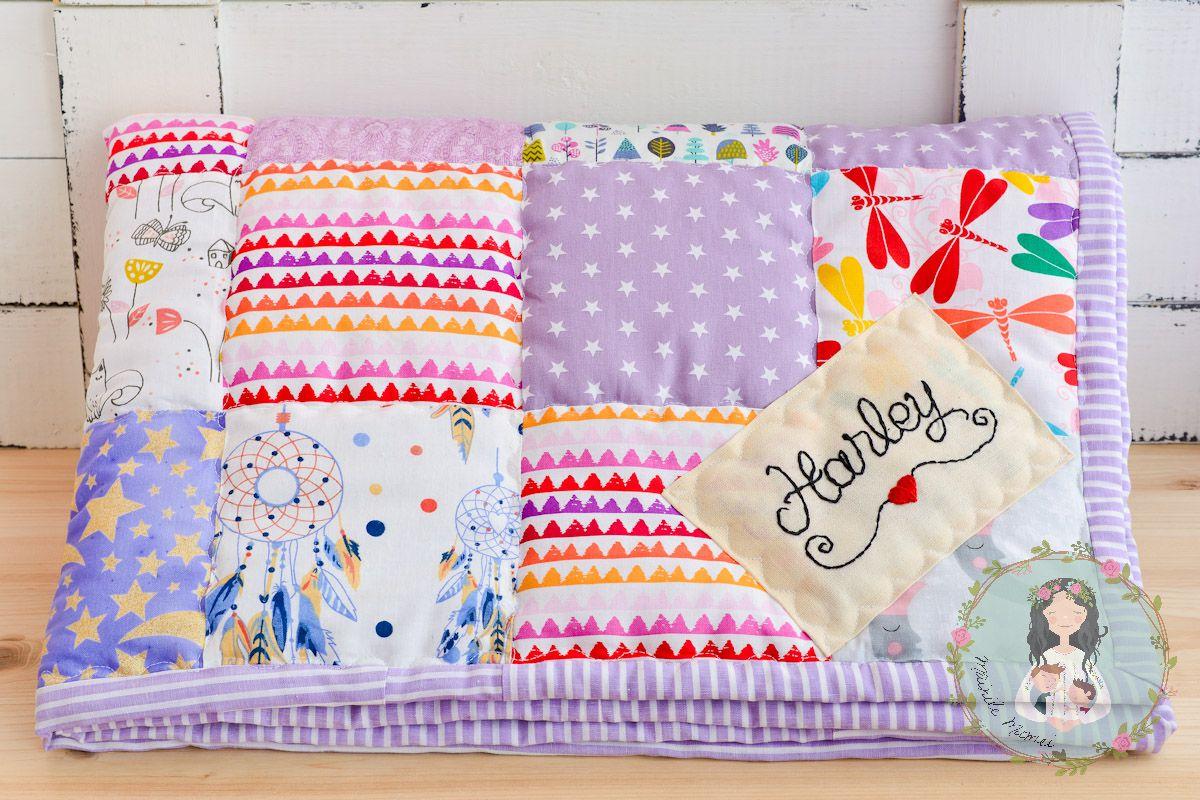 Baby Blanket Patchwork Quilt Custom Blanket Baby Shower Gift Personalized Quilt Baby Quilt Newborn Gift Receiving Blanket Crib Quilt