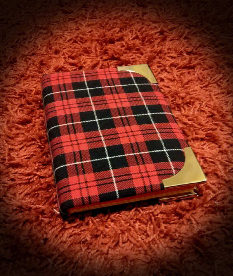 bright notebook handmade checkered
