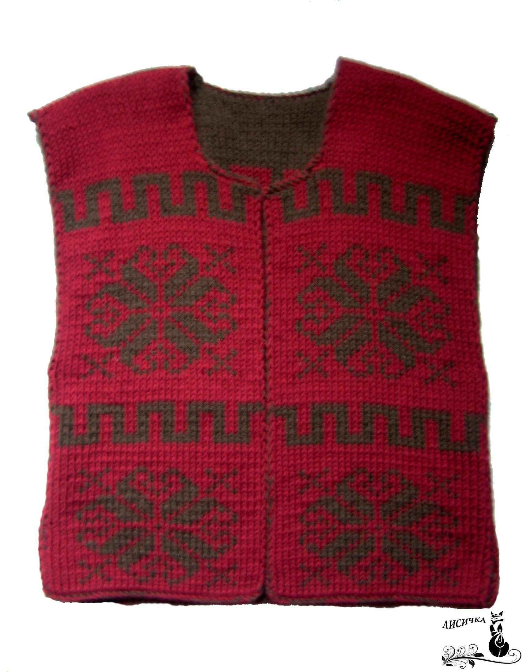 clothes wool winter vast knitting red