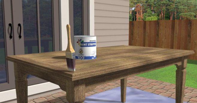furniture varnishing remove strip homemade
