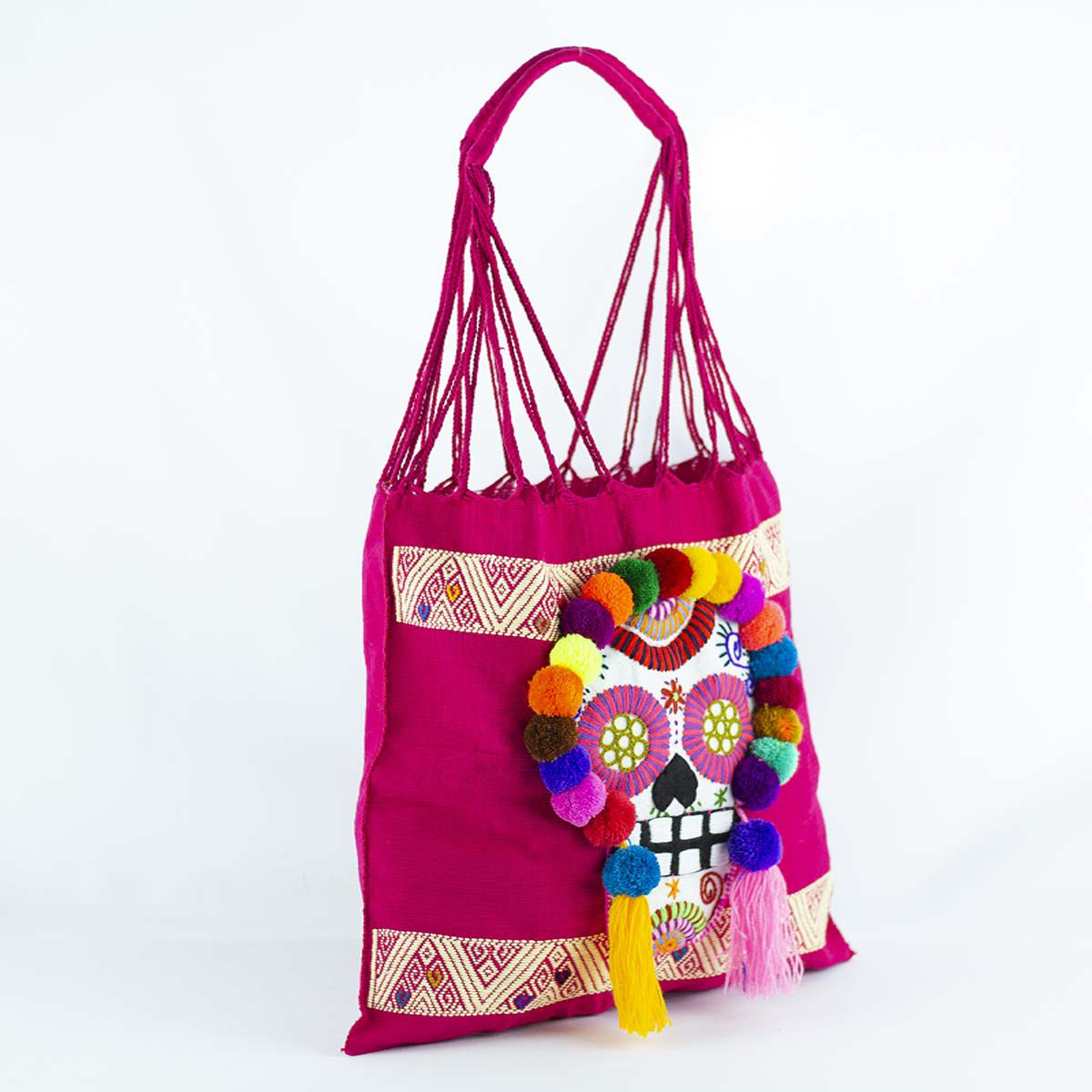 cutehandbag mexicanbag skull totebag handbag handmade dayofthedead