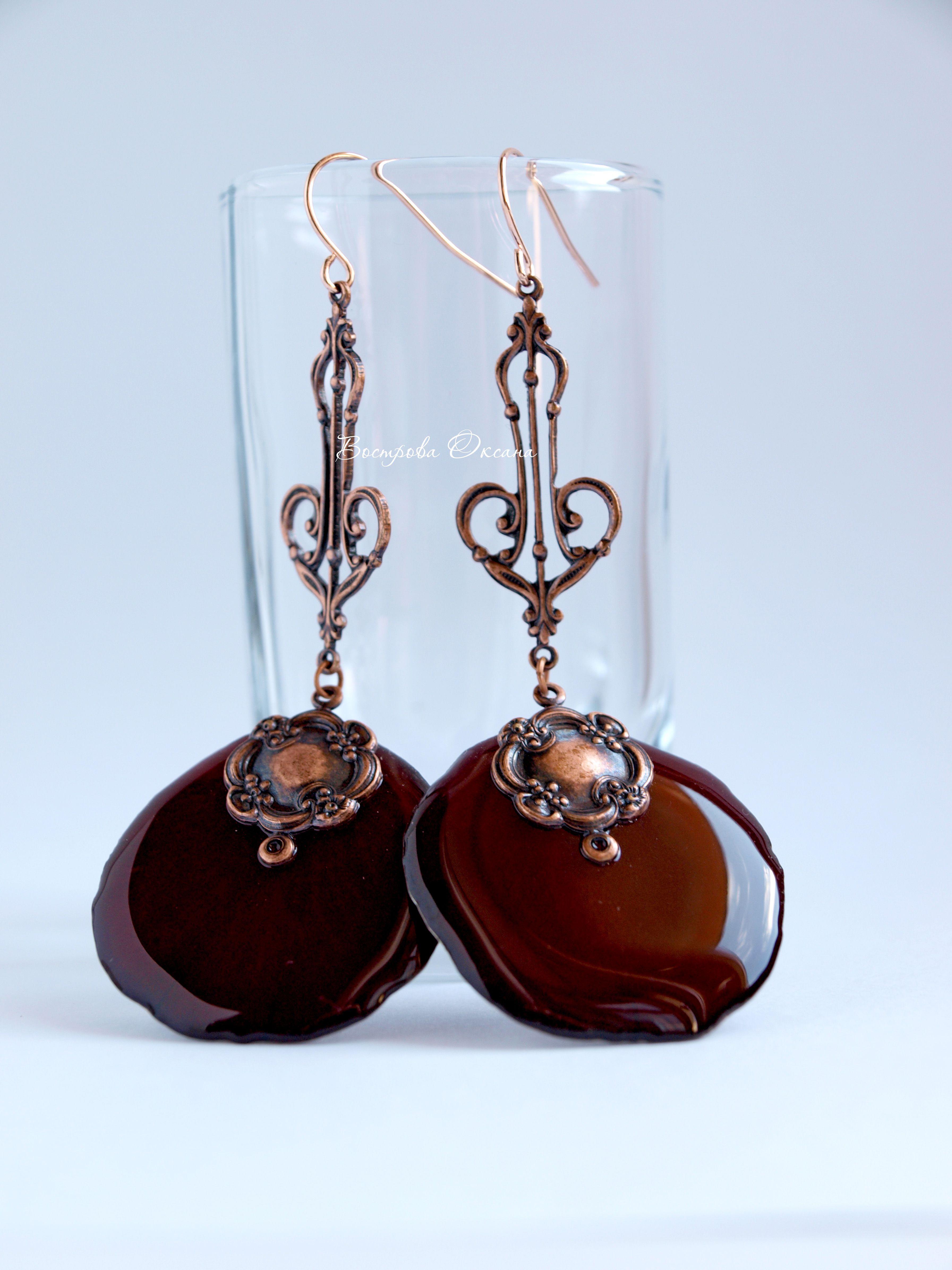 handmade rosepetals eardrops earring