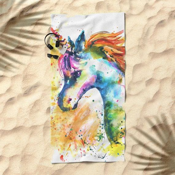 color children unicorn towel fun beach splash bath bathroom summer kids swimming