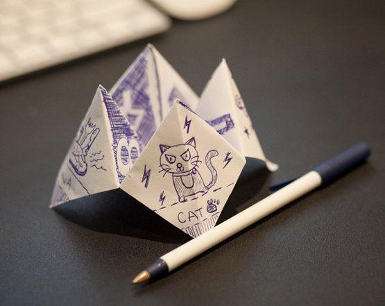 fortune teller origami paper crafts