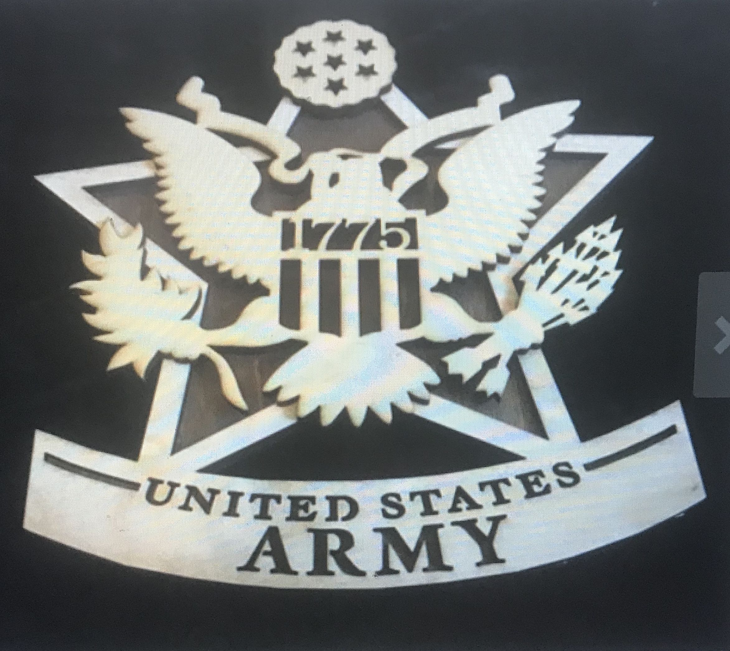engraved laser plaque wood army military