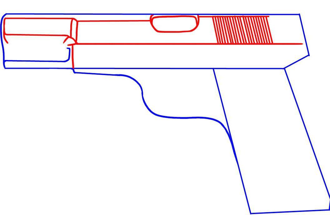 gun figures colour draw art