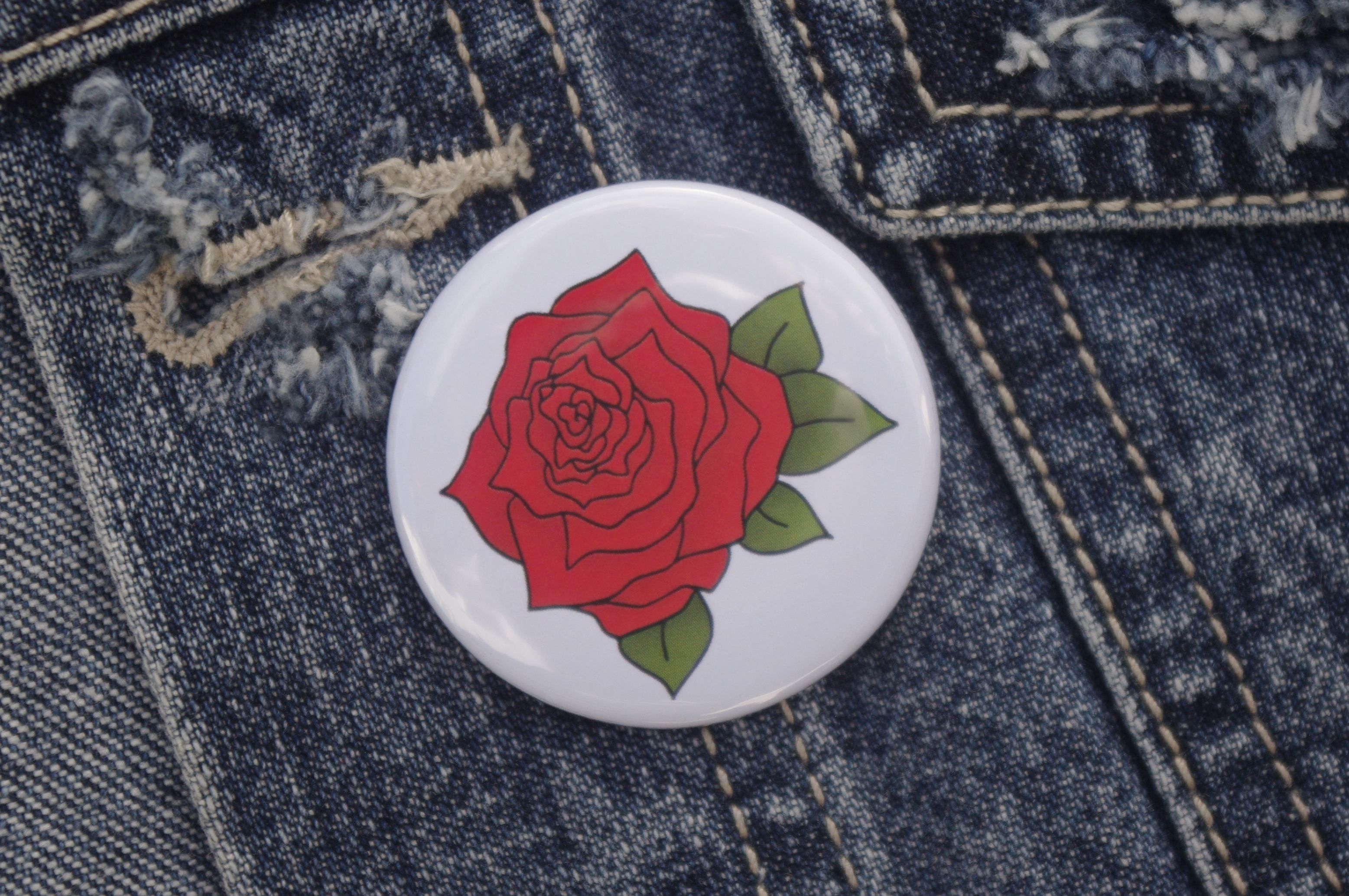accessories roses flowers gift tattooart stockingfiller pin pinbadge badge floral alternative rose tattoo clothing