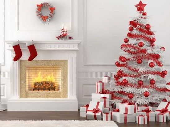 holidays christmas tree white decorate