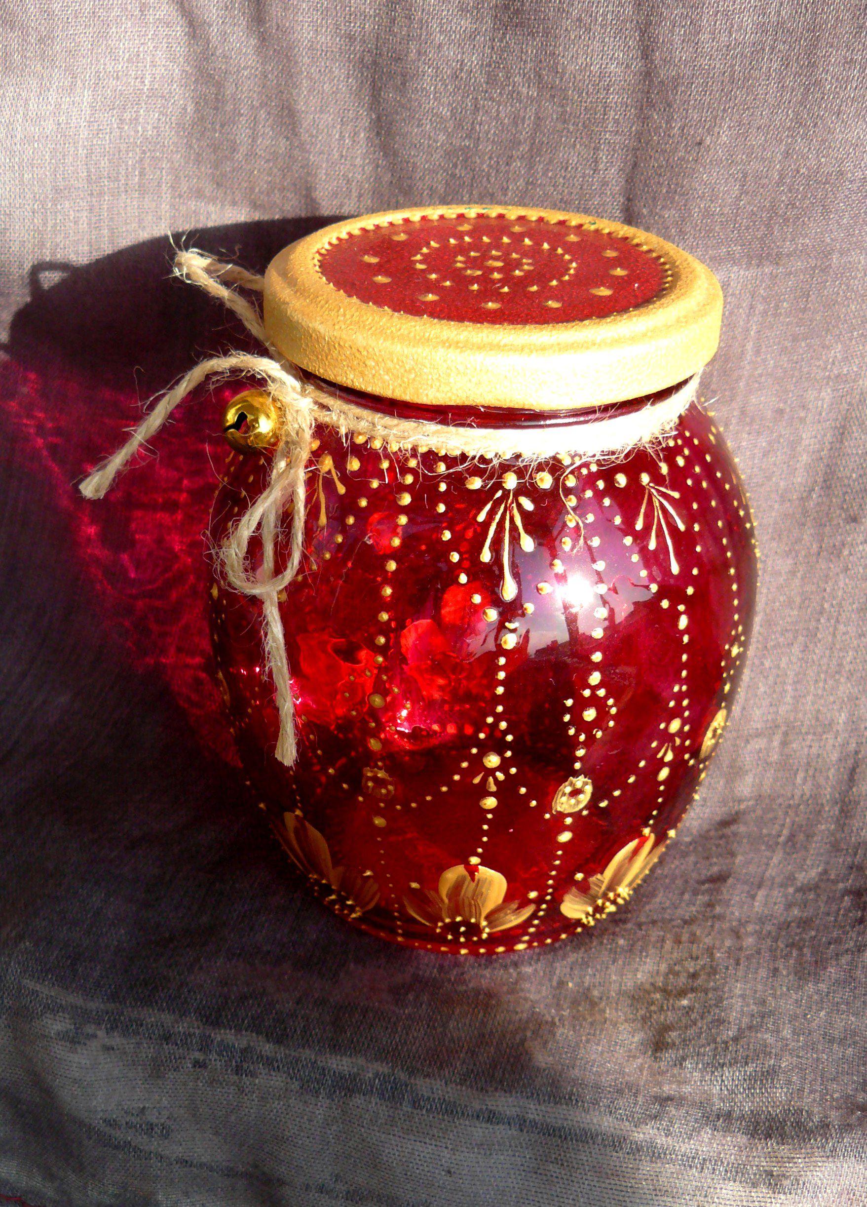 stainedglass vintage jar décor