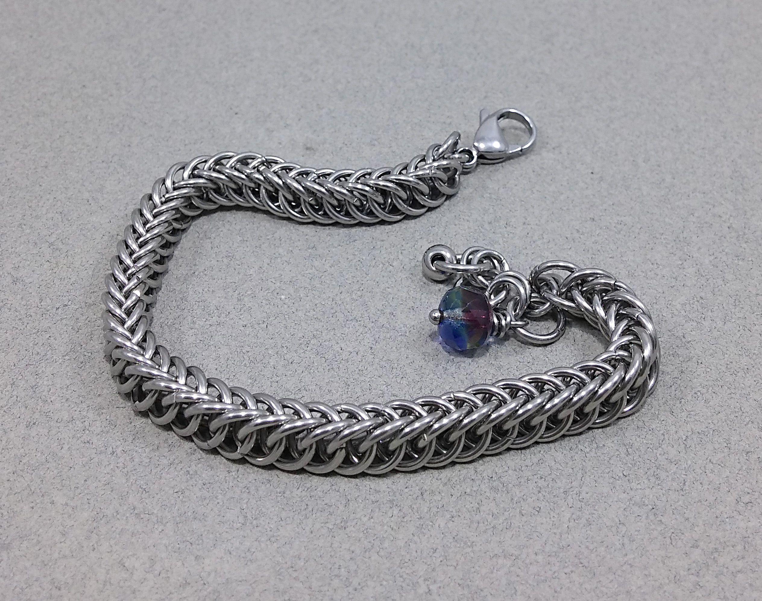 bracelet metal chainmail stainless steel chainmaille unisex elegance chainmaill chainmaile metaljewelry metalbracelet