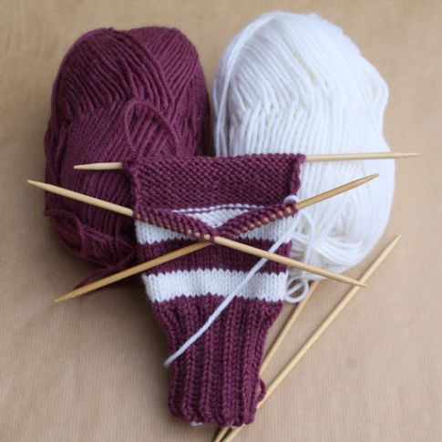 goods textile socks knit needles