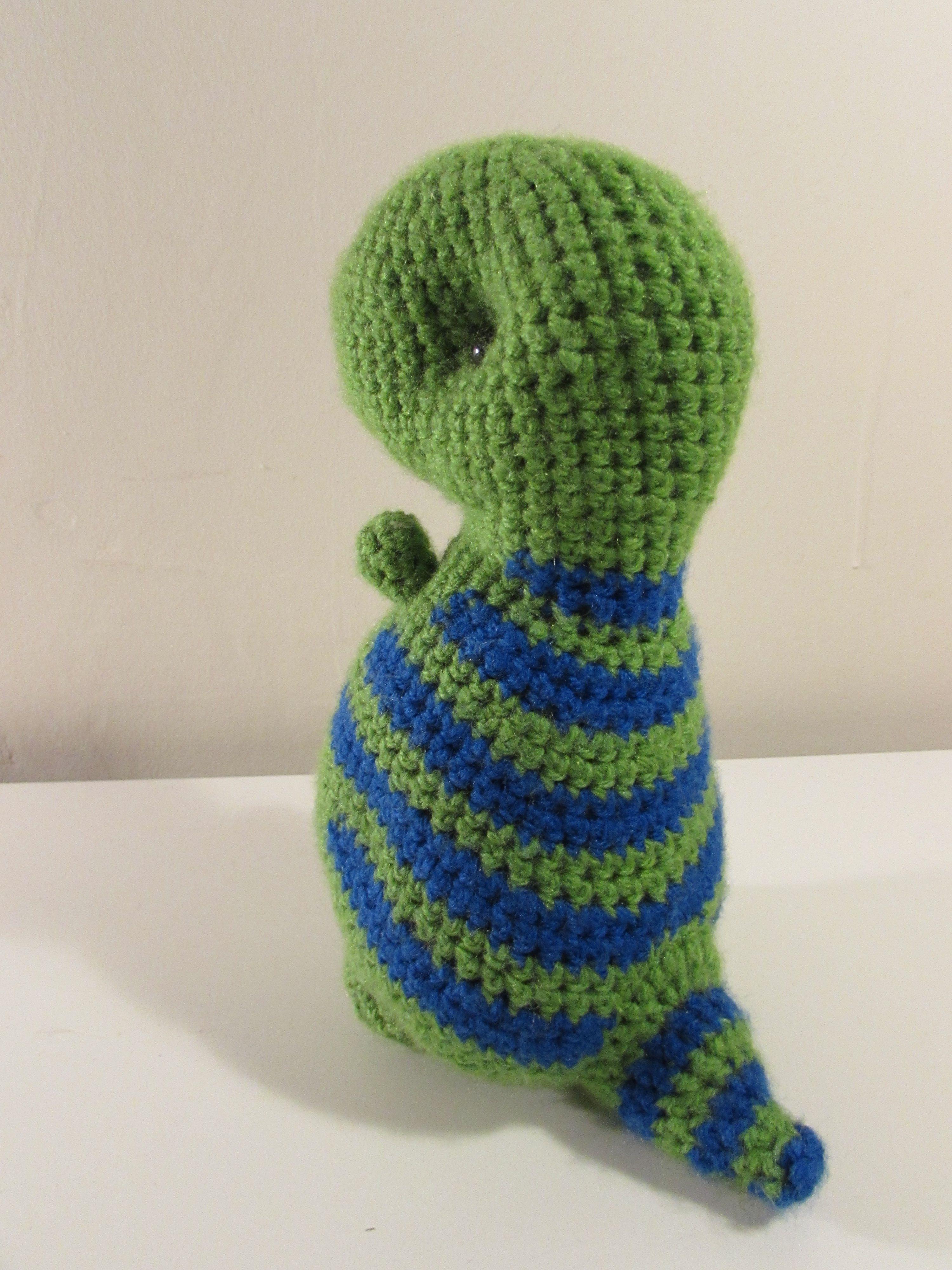 toy rex dinosaur tyrannosaurus green stuffed teddy blue stripes
