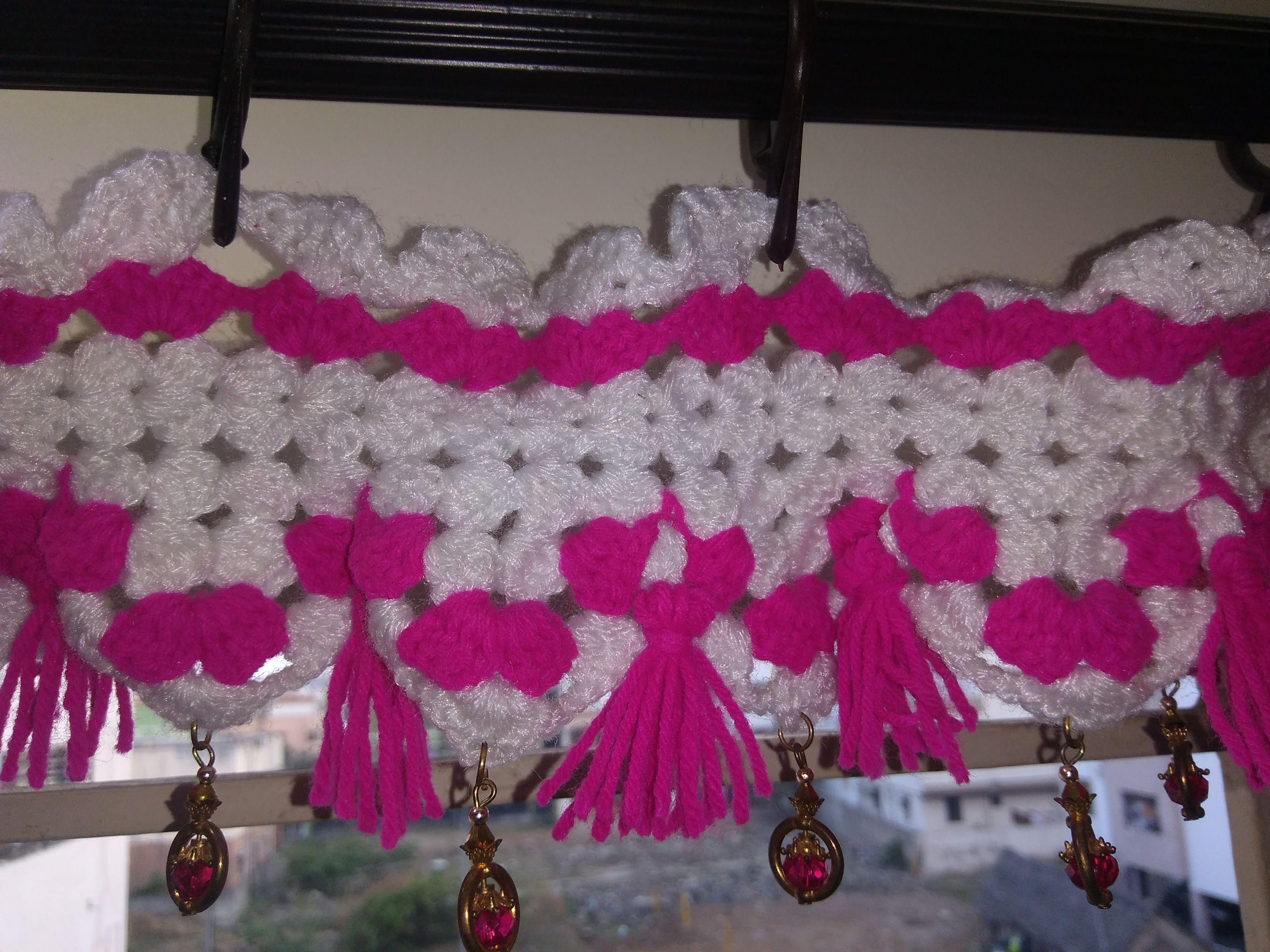 hanger hand crochet woolen door made