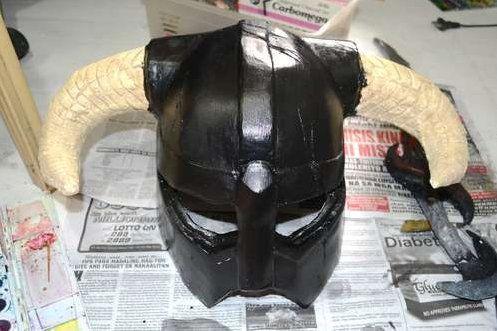 crafts instruction halloween helmet paper make