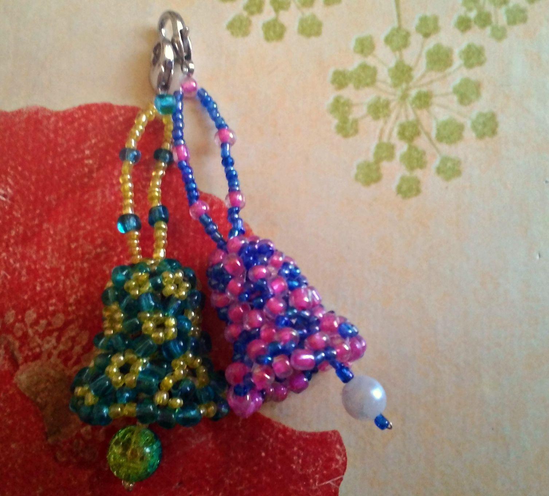 accessories glass keyring beads bells