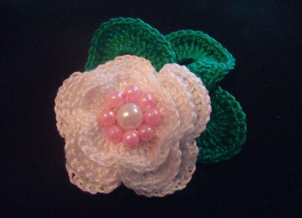 flower rose textile crochet goods