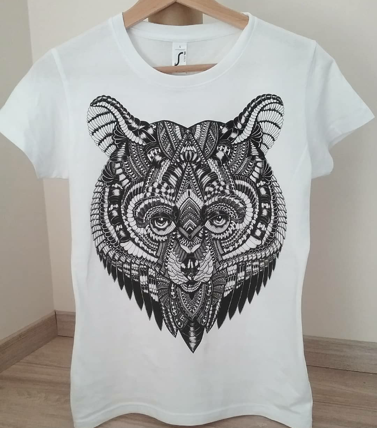 mandala latvian men hipster bear tshirt clothing design art
