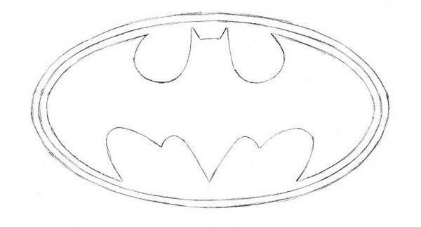 symbol lines batman draw pencil art