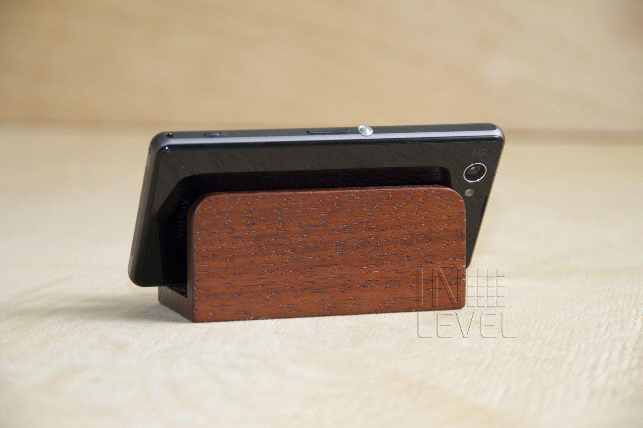 mahogany holder wood office cardholder