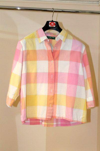 retro vintage clothes shirt plaided pink
