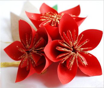 paper flower crafts origami scheme