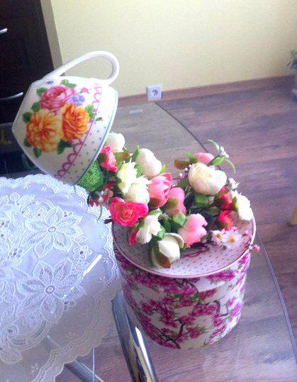 flowers cup design mug interior
