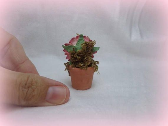 doll one artist kind miniature handsculpt flowerpot ooak polymer clay dollhouse art
