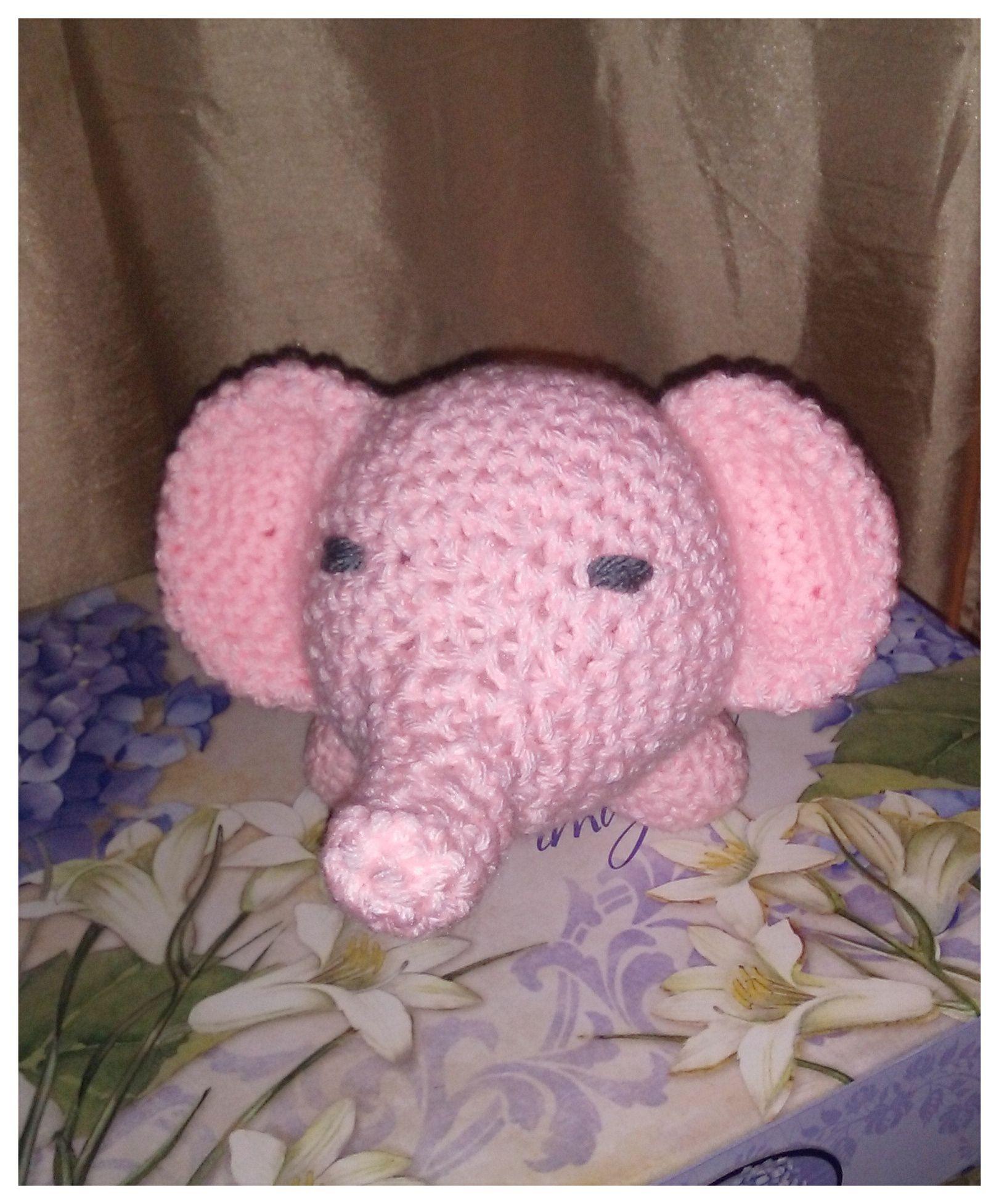 Three Week Old Newborn Baby Boy Wearing A Gray Crocheted Elephant ... | 1953x1621