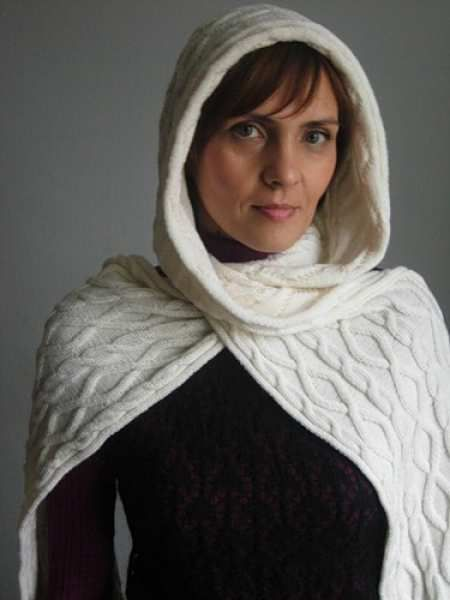 scarf goods crochet textile hooded