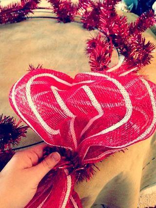 decor holidays wreath mesh make