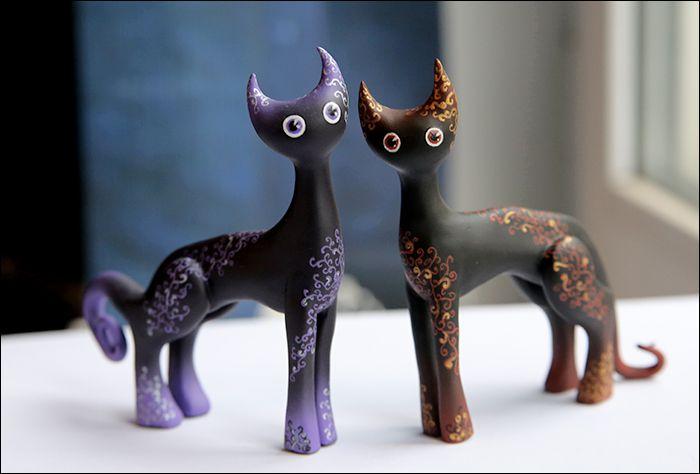 clay interior black cat