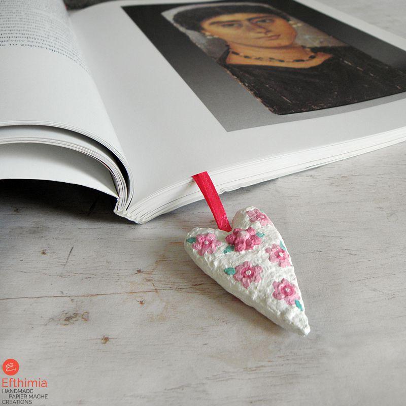 paperheart papiermache unique mothersdaygift paperart bookmark papermache artistic ooak matchboxart giftformom giftforher inspirational handmadeart creative