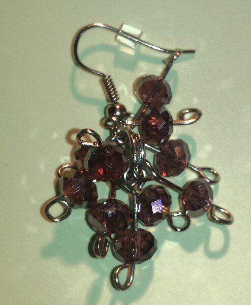 earrings grapes handmade