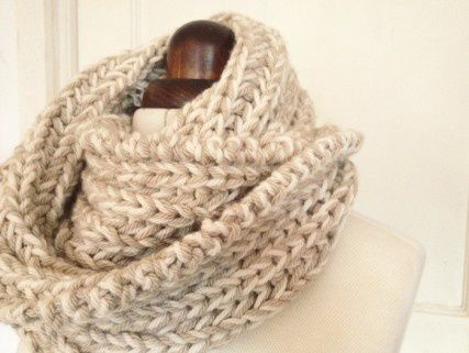 instruction textile knit cowl goods