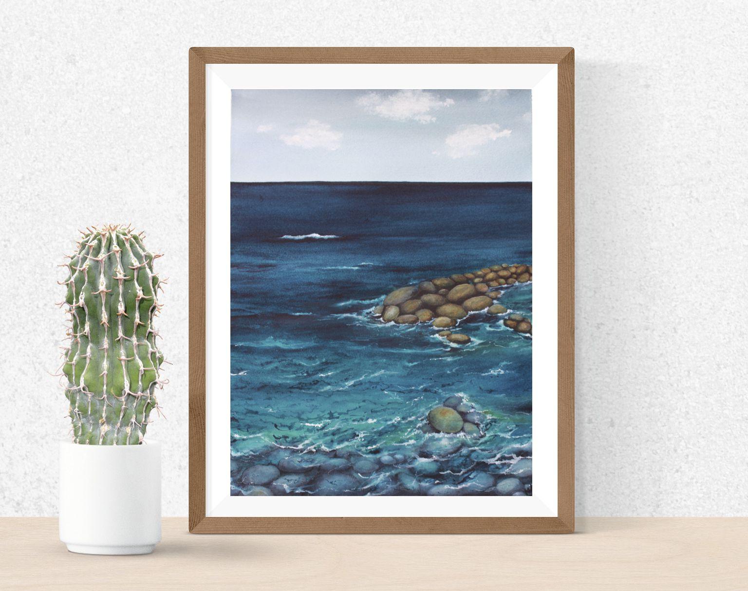 seaart walldecor oceanpainting seapainting waterwallart livingroomart seascape homedecor