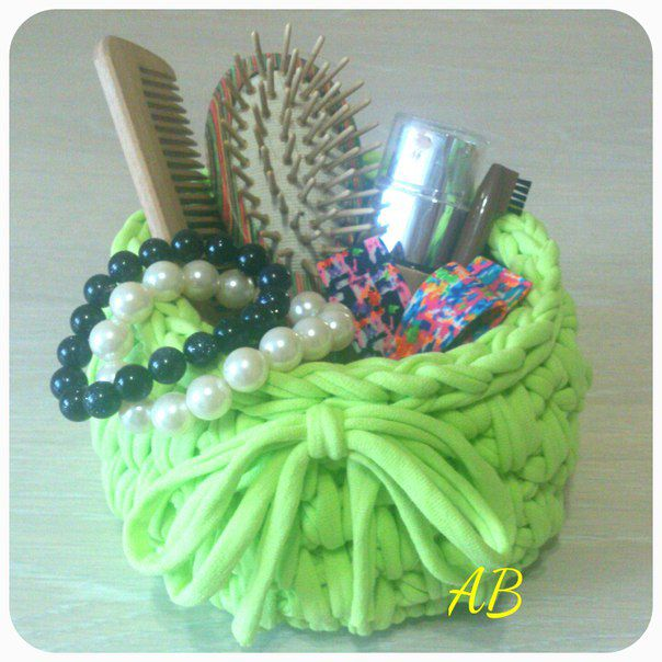 gift giftforwomen interiorbasket knittedbasket handmade basket handmadegift originalgift