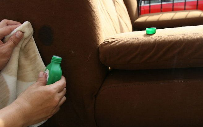 sofa furniture microfiber clean steps