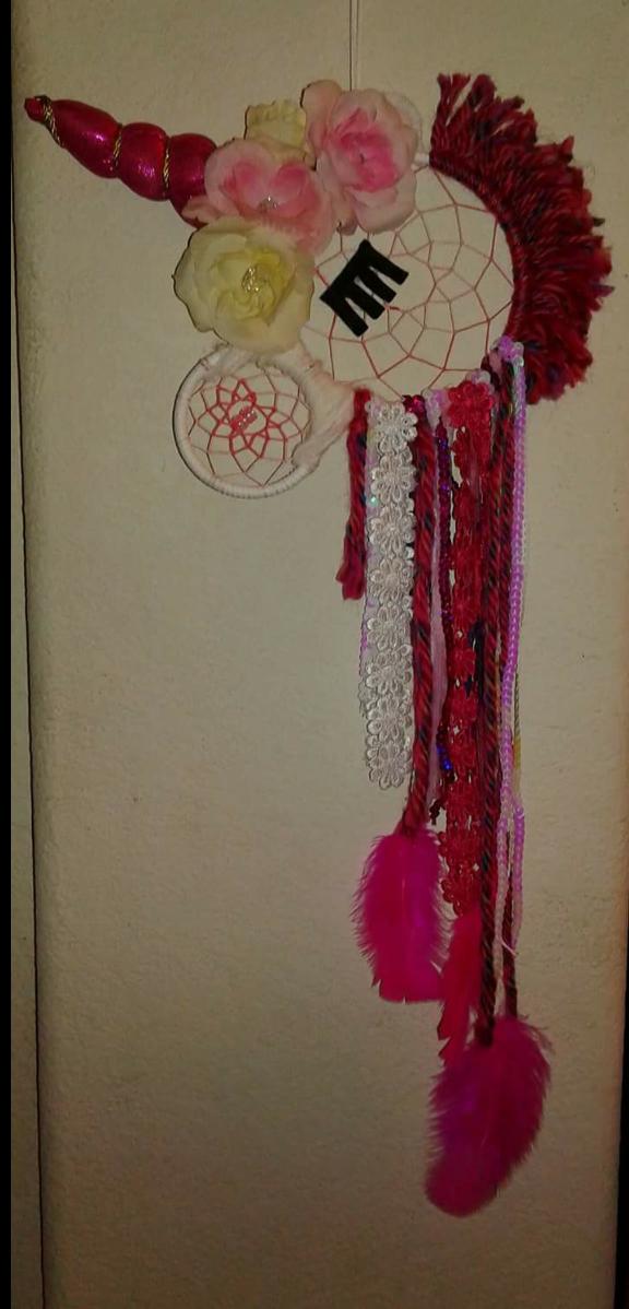 decor pink dreamcatcher unicorn