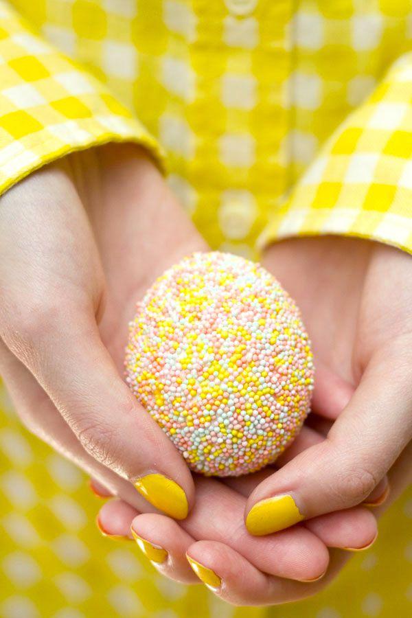eggs cute diy easter sprinlkes