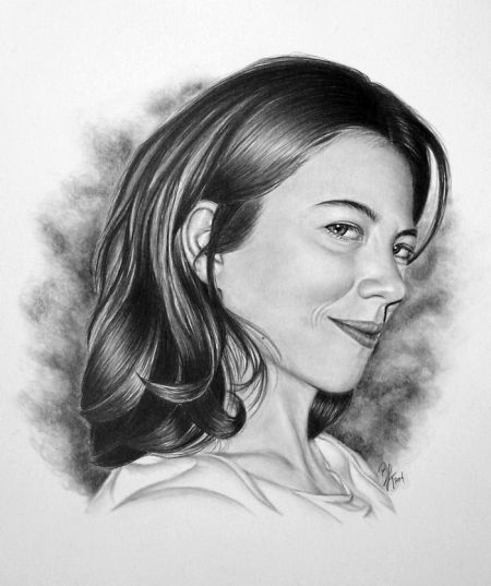 line contour portraits draw pencil art