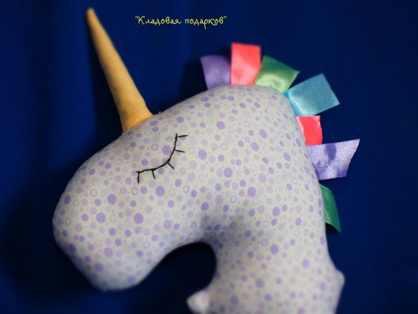 toy textile kids unicorn