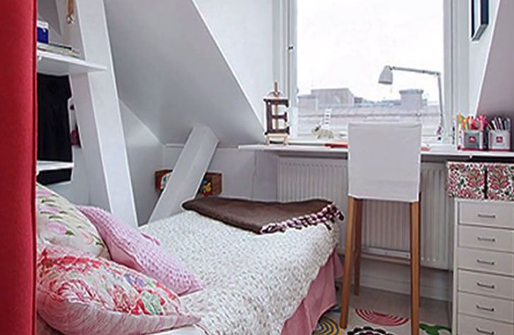 interior small house bedroom decorate