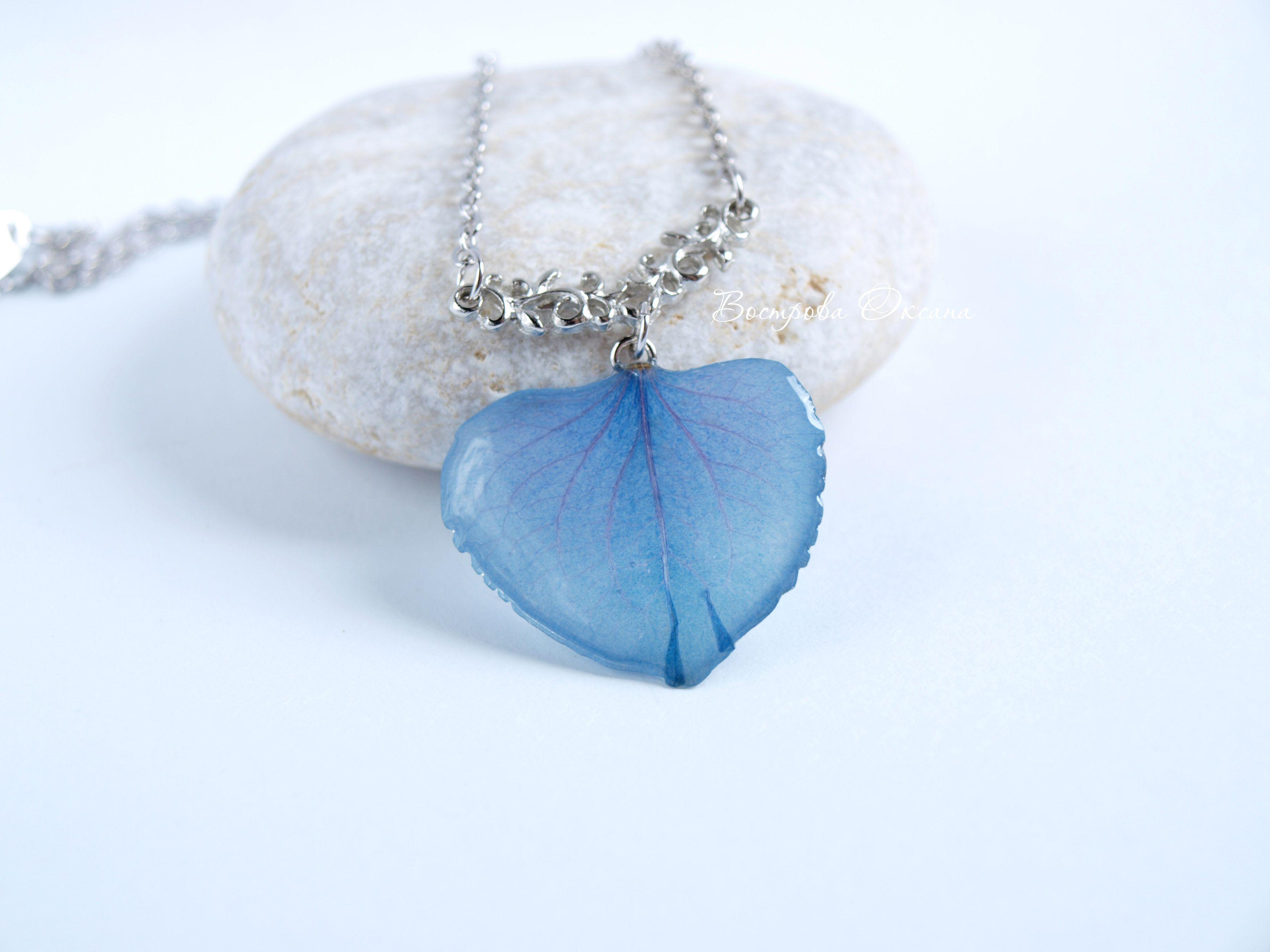 handmade flower gift hydrangea exclusive jewelry