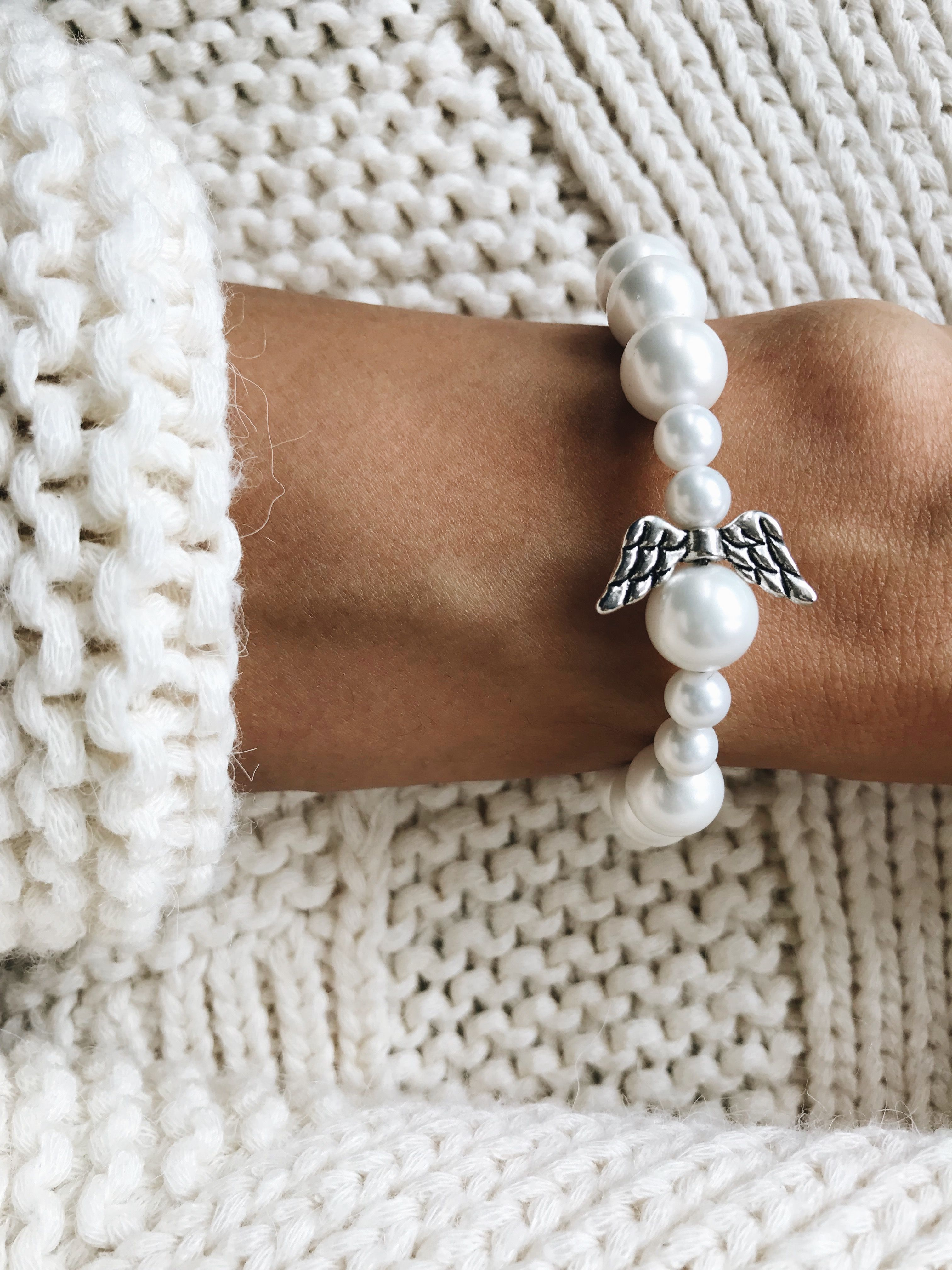 handmade gift beads bracelet angel jewelry gemstone